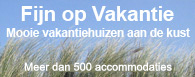 Mooie vakantiehuizen aan de kust!
